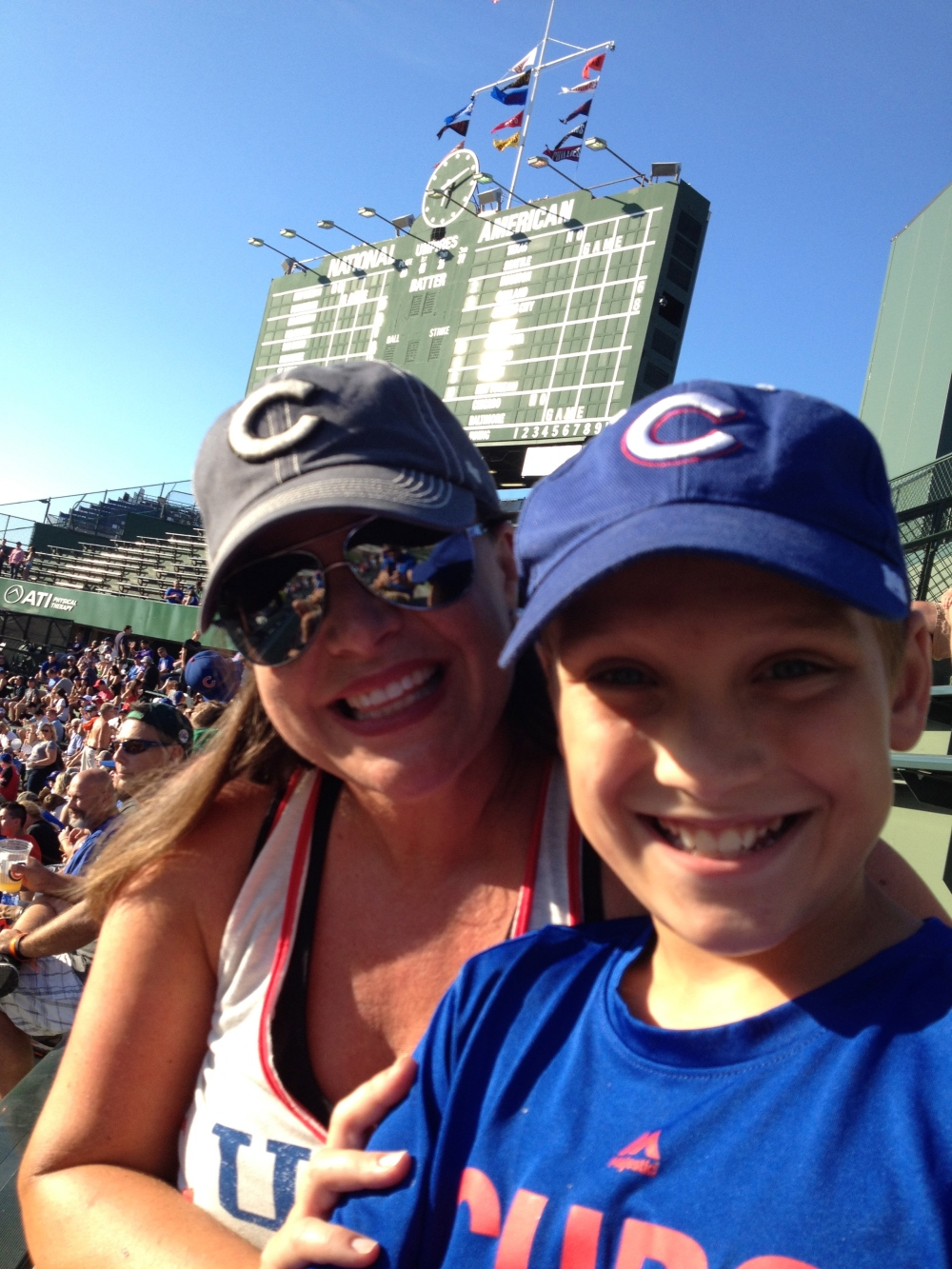 My Wife and Son at Wrigley Field