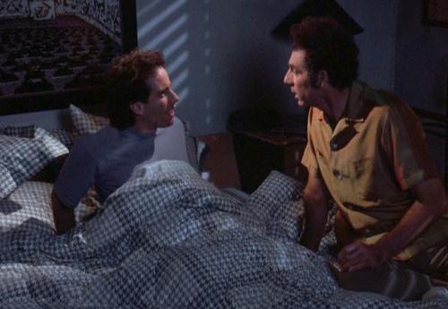 Kramer on Seinfeld's Bed